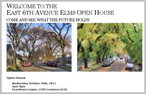 Elms Open House information package on Vancouver Park Board website